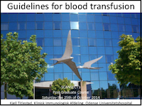 Guidelines for blood transfusion
