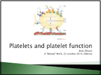Platelets and platelet function